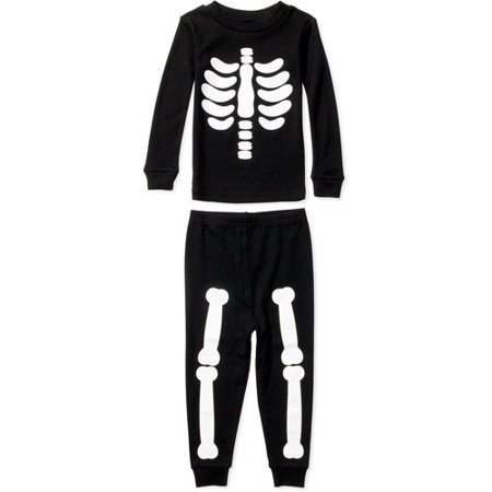 f9f94833891c Toddler Boys  Skeleton Cotton Pajamas Set - Walmart.com