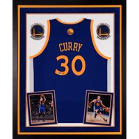 Stephen Curry Golden State Warriors Autographed Deluxe Framed Adidas Swingman Blue Jersey - Fanatics Authentic Certified