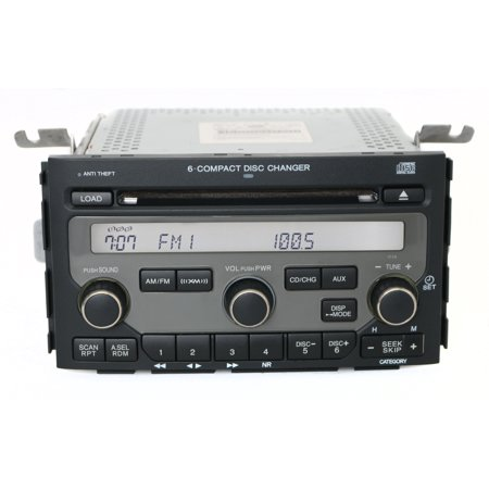 2006 2008 Honda Pilot Am Fm Radio 6 Disc Cd Changer Face 1tv5 Part 39100stwa200 Refurbished