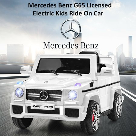 Costway Mercedes Benz G65 Licensed 12V Electric Kids Ride On Car RC Remote Control White - image 7 of 10