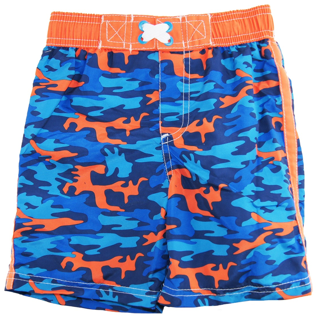 iXtreme Little Boys' Camo Army Swim Trunk Rashguard