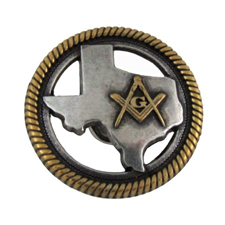 Texas Masonic Lodge Screw Back Concho Leathercraft Accessory (Screw Back Leathercraft Spikes)