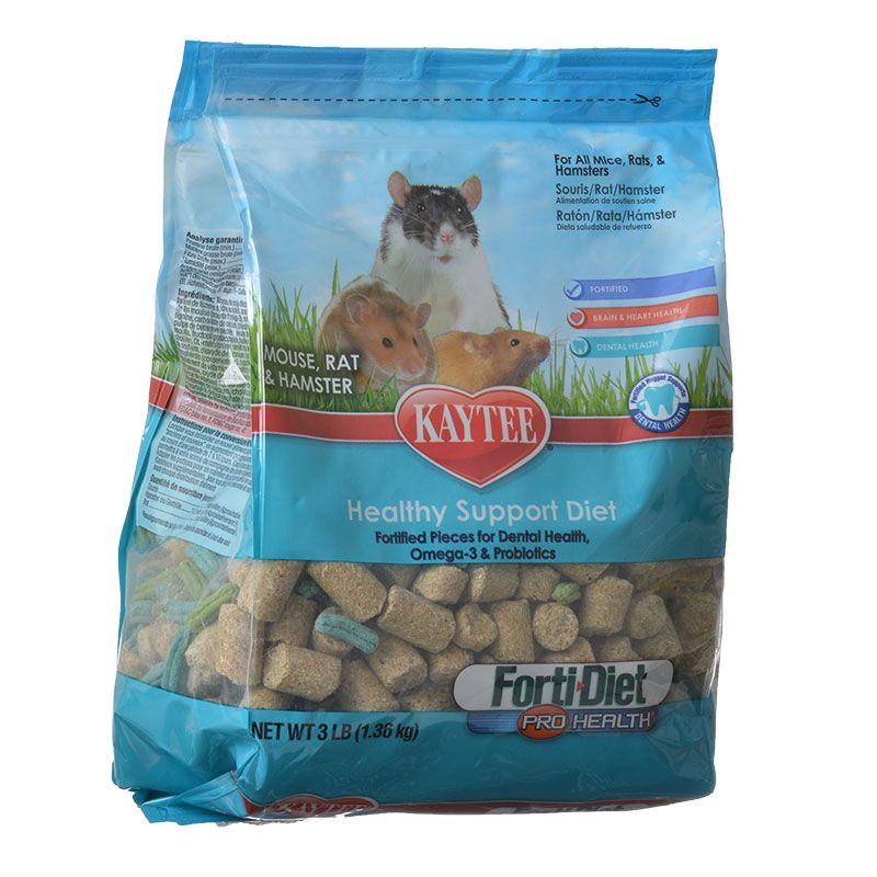Kaytee Forti-Diet Pro Health Mouse, Rat & Hamster Food 3 lbs Pack of 12 by