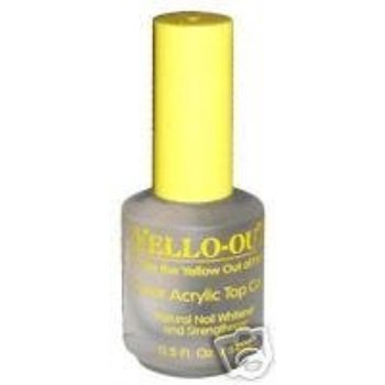 Blue Cross Yello Out Clear Acrylic Nail Polish Top Coat 0.5oz - Nail Crosses