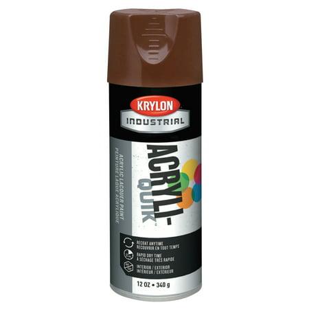 Krylon Interior/Exterior Industrial Maintenance Paints, 12oz Aerosol Can, Leather Brown