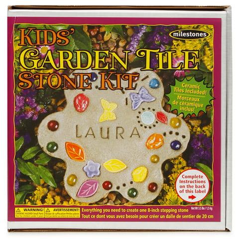Milestones Kids Garden Tile Stepping Stone Kit: Makes 1