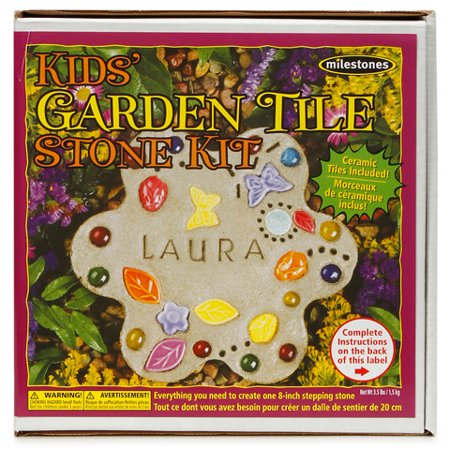 Kids Garden Tile Stepping Stone Kit: Makes 1 (Make Your Own Stepping Stones)