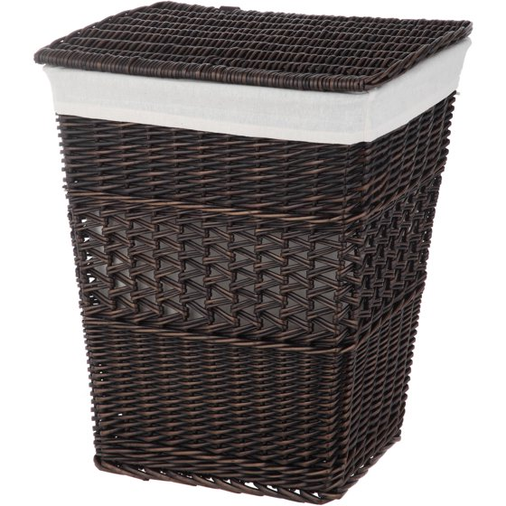 Better Homes And Gardens Rectangle Wicker Hamper Walmart Com