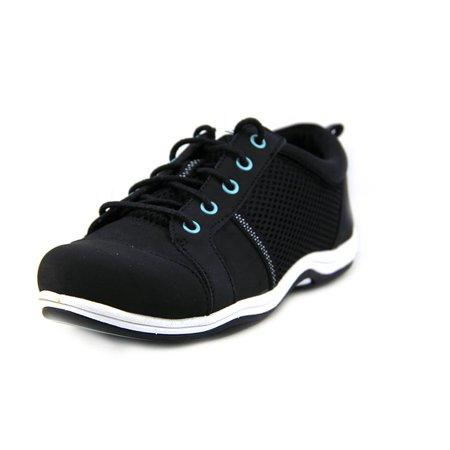 (Easy Street Buffy Women  Round Toe Leather Black Sneakers)