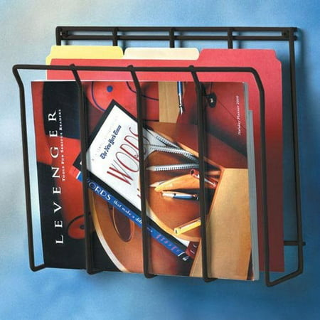 Spectrum Diversified Designs Wall Mounted Wire Magazine Rack, Black Wall Magazine Rack