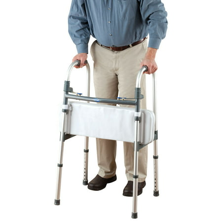Walker Rest Seat- Attachable Seat for Folding Walker Supports up to 250 lbs. 25