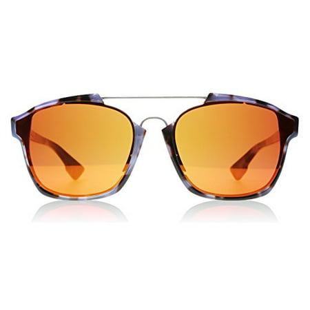 10912dc29f7 Christian Dior - Dior YH0 Mauve Havana Abstract Aviator Sunglasses Lens  Category 3 Lens Mirrored - Walmart.com
