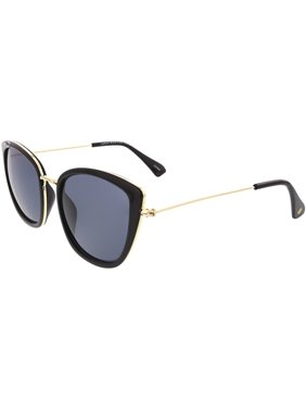 Lucky TRINBLA54 Mirrored Cat-Eye Sunglasses Black/Gold