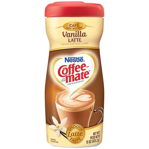 Nestle Coffee-Mate Cafe Collection Vanilla Latte Powder Coffee Creamer, 15 oz