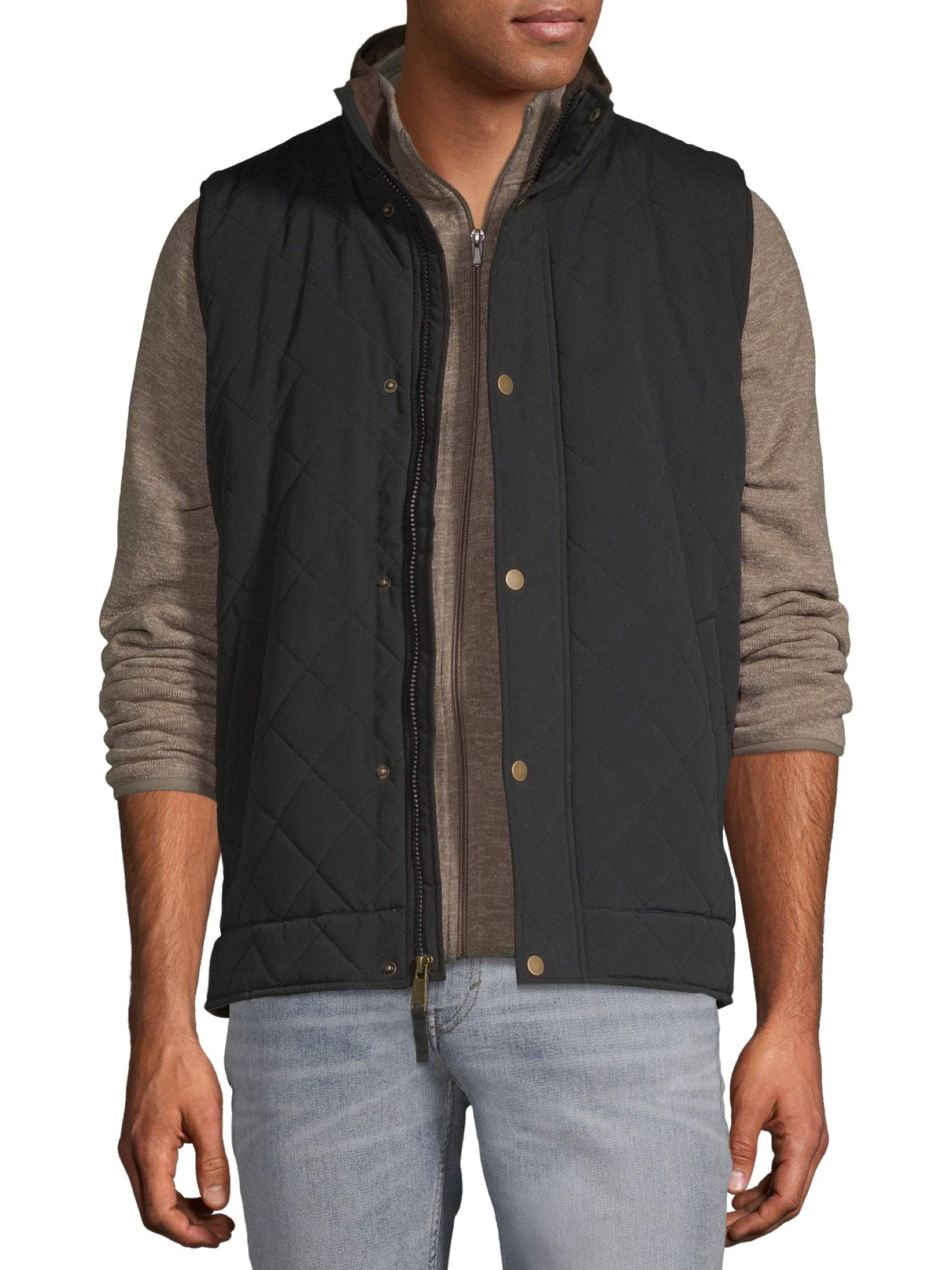 Mens Outerwear mens Diamond Quilted Barn Vest Cherokee