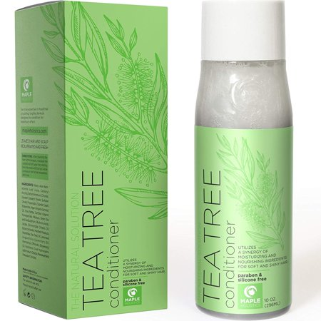 Natural Tea Tree Oil hair Conditioner for Scalp Dandruff and Dry Hair - Pure Essential Oils and Daily Sulfate Free for Sensitive and Color Treated Hair - Keratin Hair Care for Women and Men - 10 (Best Hair Color For Sensitive Scalp)