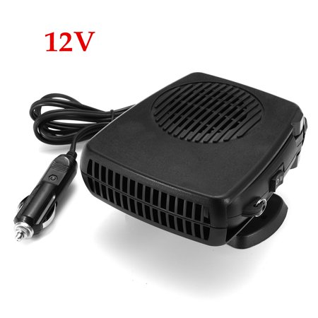 12V / 24V Portable 360° Rotary Car Heater Fan Heating Cooling Fan Foldable Handle Detachable Base Cigarette Lighter Socket For Windscreen Demister Defroster (150-200W)