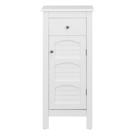 Bath Floor Cabinet (Sierra Small Space Floor Cabinet with One Door and One Drawer )