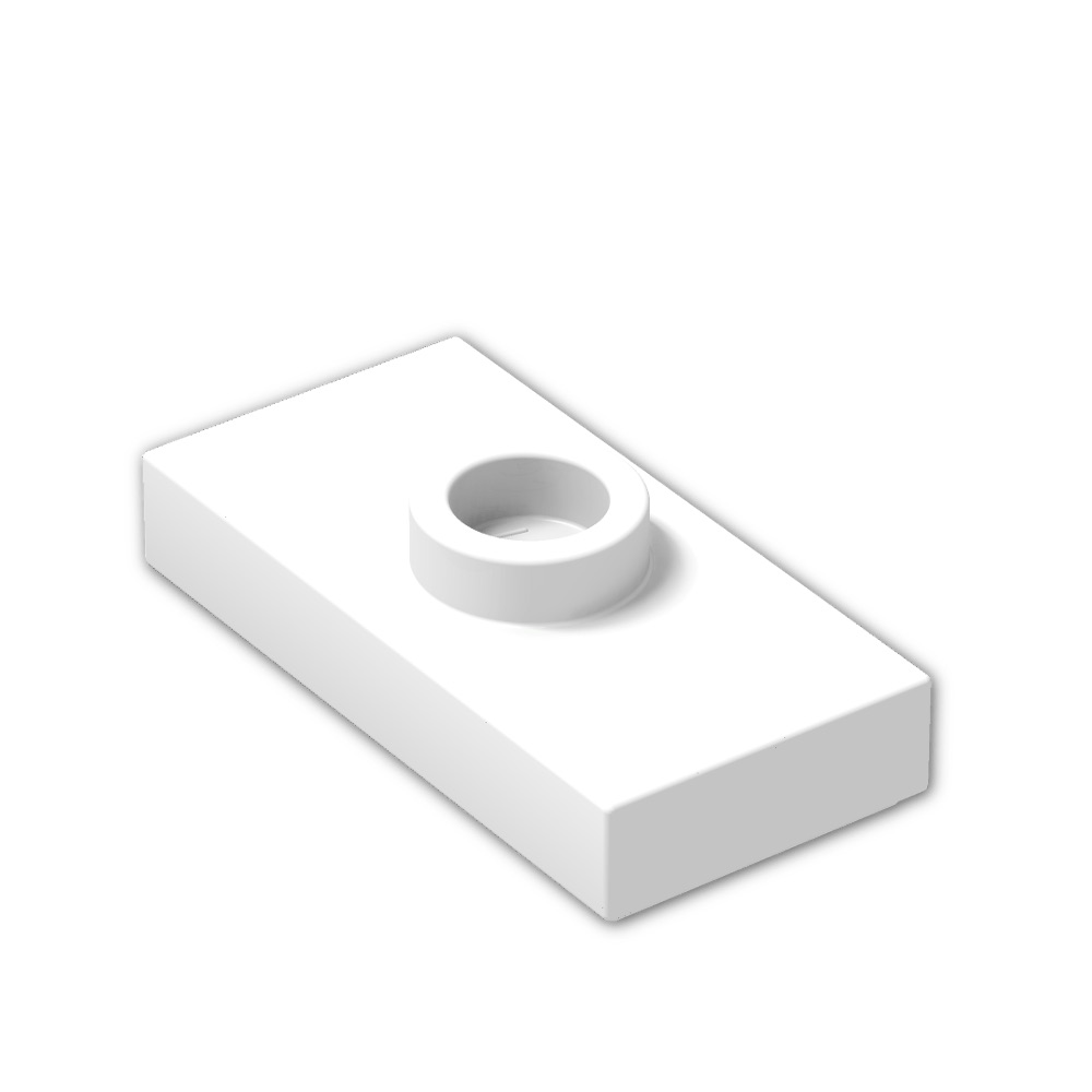 Part 15573 Element 379401 Qty:25 Lego White Plate Modified 1x2 New