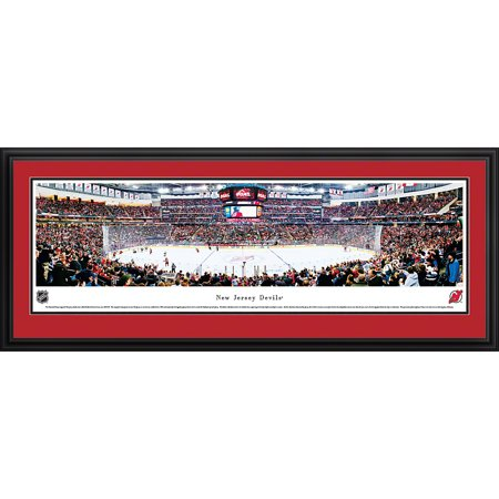 New Jersey Devils Center Ice at Prudential Center Blakeway Panoramas NHL Print with Deluxe Frame and Double Mat by