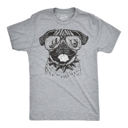 Mens Pug Wearing Glasses T-Shirt Funny Animal Tee with a Cute (Funny Glasses T-shirt)