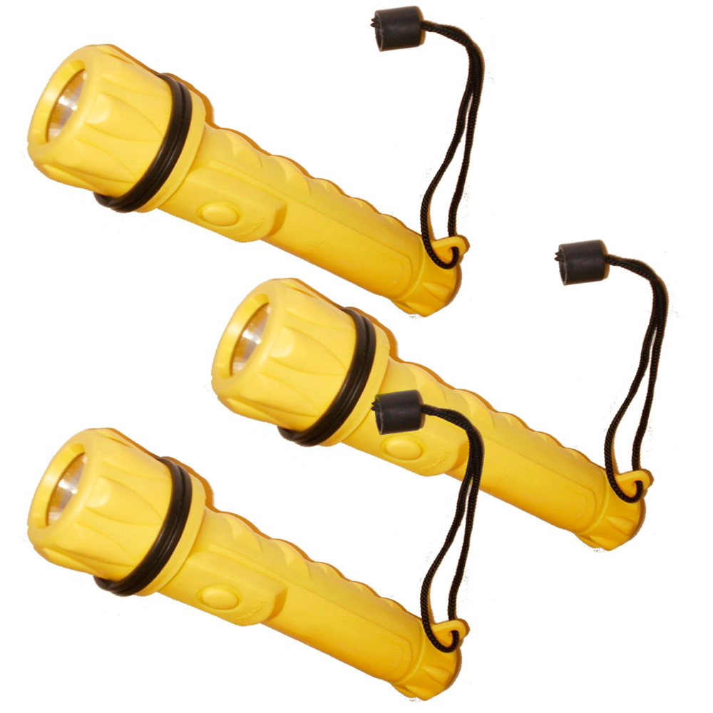 3 Water Resistant Flashlight Torch Lamp Bright Light Camp Safety Survival Sport