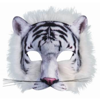 WHITE TIGER MASK - White Mask With Mustache
