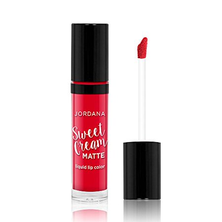 Jordana Sweet Cream Matte Liquid Lip Color 06 Cherry Cobbler