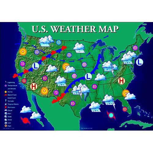 united states weather map Mark Twain Interactive United States Weather Map   Walmart.