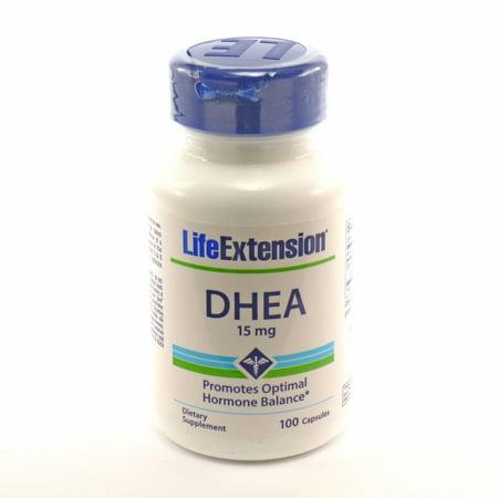 DHEA 15mg Por Life Extension - 100 Cápsulas