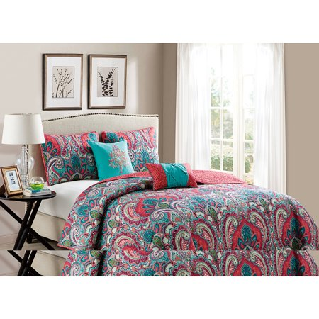VCNY Casa Re`al Multi-Colored Reversible Quilt Set