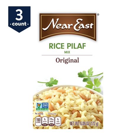 (3 Pack) Near East Rice Pilaf Mix, Original, 6.09 oz Box