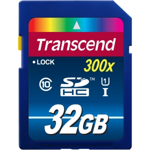 Transcend 32GB SDHC Class 10 UHS-I Flash Card