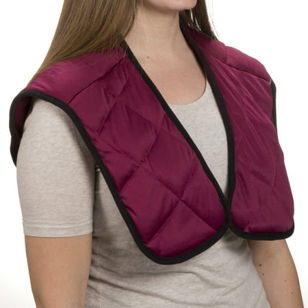 Hot or Cold Wrap- Microwaveable or Freezable Neck and Shoulder Wrap-Moist Heat or Cooling Therapy with Natural Buckwheat Filling by (Microwaveable Neck And Shoulder Wrap)