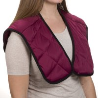 Hot or Cold Wrap- Microwaveable or Freezable Neck and Shoulder Wrap-Moist Heat or Cooling Therapy with Natural Buckwheat Filling by Bluestone