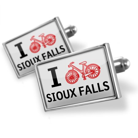 Cufflinks I Love Cycling City Sioux Falls - NEONBLOND (Party City Sioux Falls)