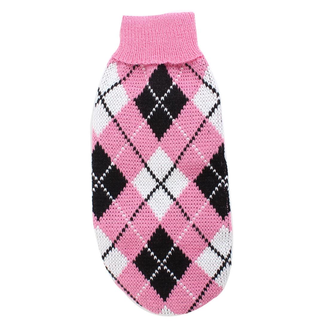 Unique Bargains Winter Turtleneck Ribbed Hem Pet Dog Doggy Knitwear Sweater Tri Colors XXS