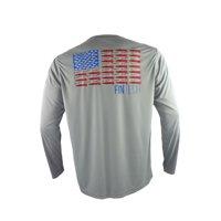 """FinTech Men's Long Sleeve Fishing Shirt """"Merica"""""""