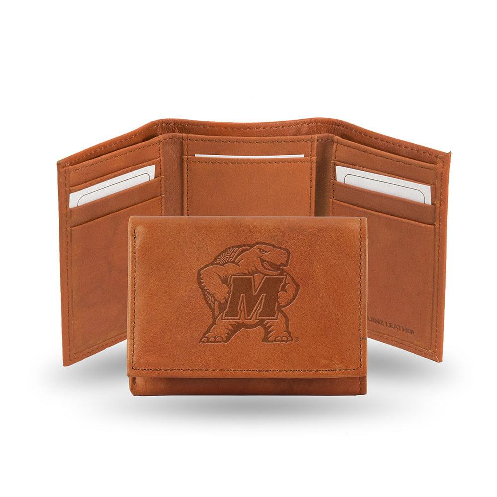 Maryland Terps  Tri-Fold Wallet (Pecan Cowhide)