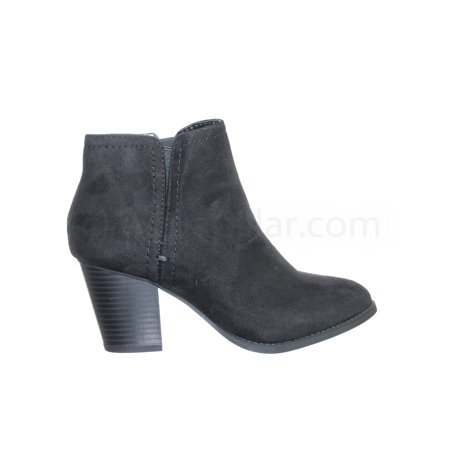 d609a9b581 City Classified - Piano by City Classified, Women's Chunky High Block Heel  Ankle Bootie w Elastic & Zipper - Walmart.com
