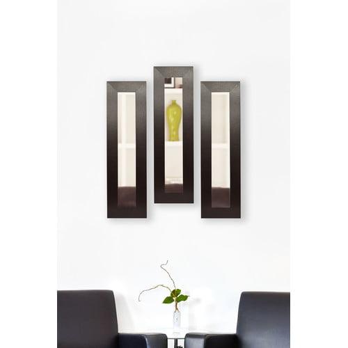 Ebern Designs 3 Piece Hobson Panel Mirror Set (Set of 3)