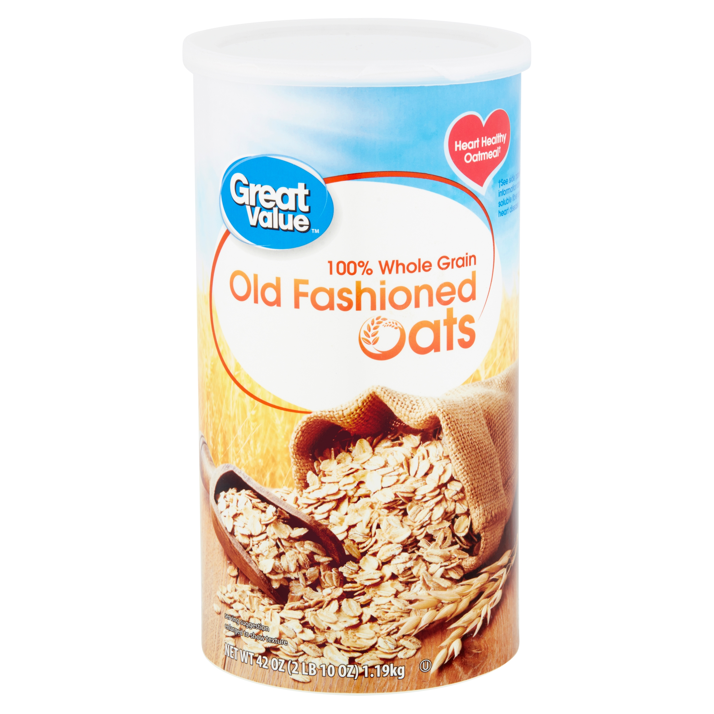 Great Value Old Fashioned Oats, 42 oz