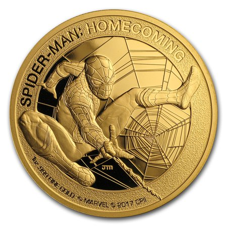 2017 1 oz Gold $200 Mercanti-Designed SPIDERMAN? Gem Proof (Jewel Spider)