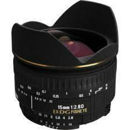 Sigma 15mm f/2.8 EX DG Diagonal Fisheye Lens for Nikon SLR Cameras - International Version (No