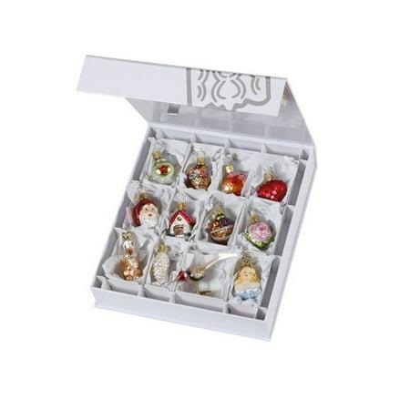 Inge Glas The Bridal Collection Mini Wedding German Glass Ornament Set of 12 (Bridal Ornaments Set)