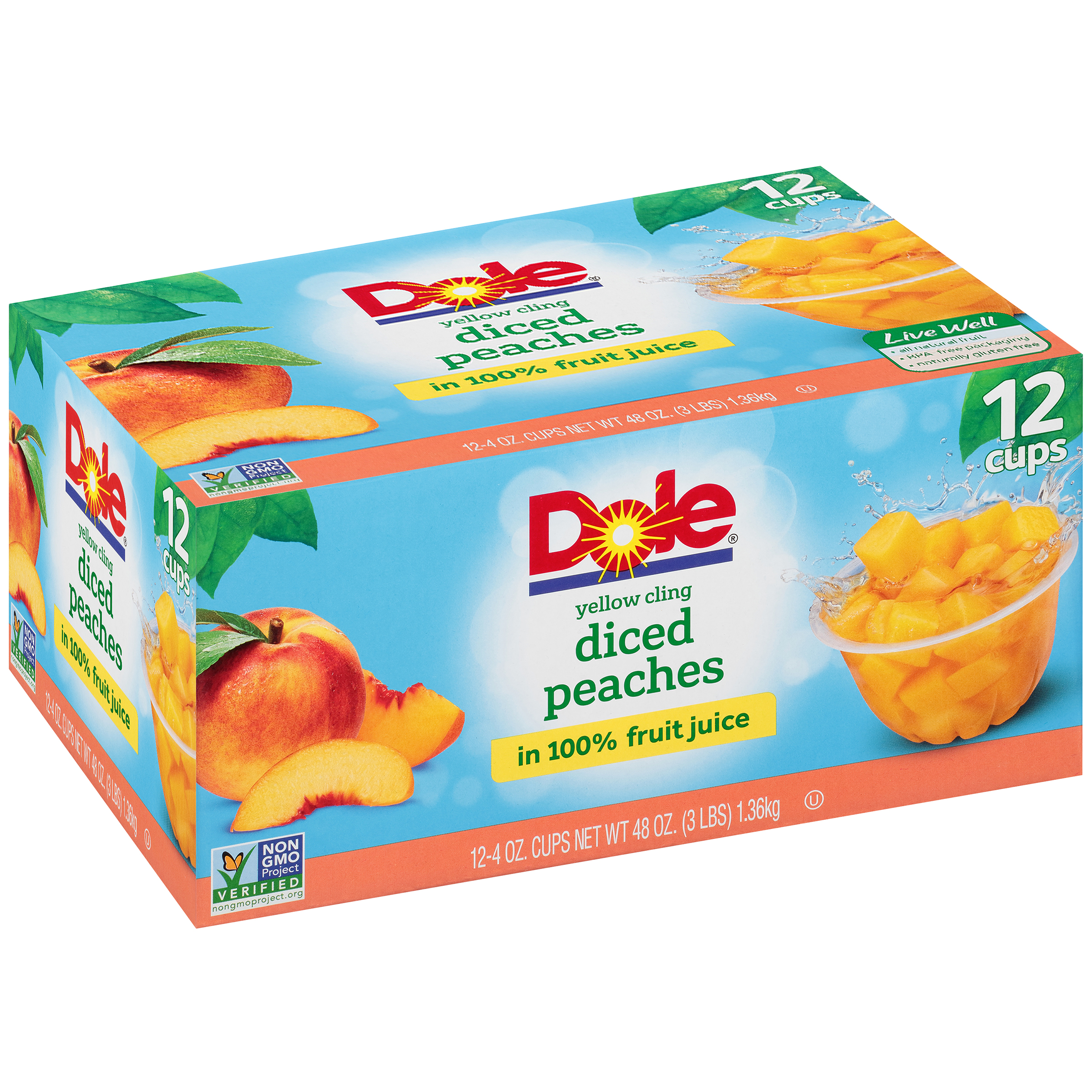 Dole Fruit Bowls Yellow Cling Diced