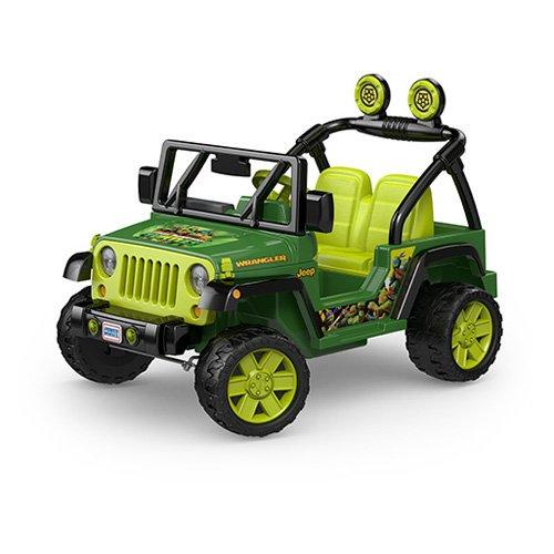 Fisher Price Power Wheels Nickelodeon Teenage Mutant Ninja Turtles Jeep Wrangler 12V Battery-Powered Ride-On by FISHER PRICE