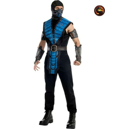 Men's Mortal Kombat Sub-zero Adult Costume - - Mortal Kombat Scorpion Costume For Kids