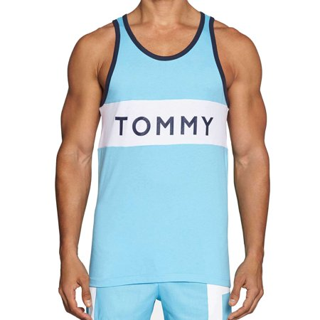 NEW Tommy Hilfiger Men's Athletic Modern Essentials Color-Blocked Tank Top