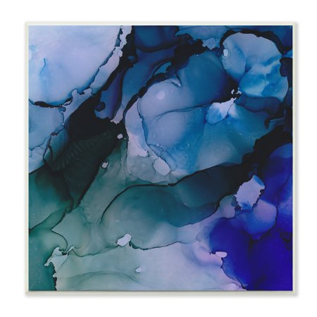 Water Wall Collection (The Stupell Home Decor Collection Deep Water Abstract Splashes Wall Plaque Art, 12 x 0.5 x)